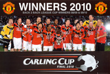 Manchester United - League Cup Winners Poster