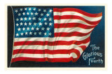 The Glorious Fourth of July, Flag Poster