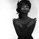 Chainmail Projection on Model with Crossed Arms, 1960s Giclee Print by John French
