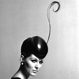 Pillbox Hat with Feather, 1960s Reproduction procédé giclée par John French