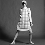 Checked Coat, 1960s Lmina gicle por John French