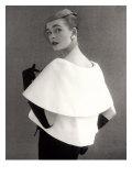 Susan Abraham in a John Cavanagh Tiered Evening Jacket, Dress and Hat, 1954 Reproduction procédé giclée par John French