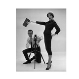 John French and and Daphne Abrams in a Tailored Suit, 1957 Gicléetryck av John French