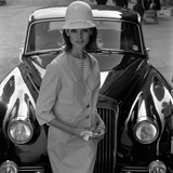 Model and Car, 1960s Gicléetryck av John French