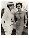 Fiona Campbell-Walter and Anne Gunning in Tailored Suits, 1953 Giclée-tryk af John French