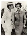 John French - Fiona Campbell-Walter and Anne Gunning in Tailored Suits, 1953 Digitálně vytištěná reprodukce