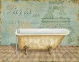 Voyage Romantique Bath I Prints by Daphne Brissonnet