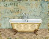 Voyage Romantique Bath II Posters by Daphne Brissonnet