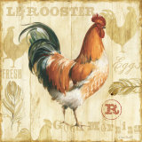 Joli Rooster I Print by Lisa Audit