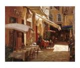 Café de Provence Print by Leonard Wren