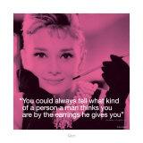 Audrey Hepburn: Earrings Reprodukcje