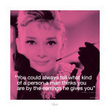 Audrey Hepburn: Earrings Prints
