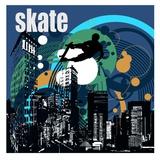 Skateboard Affiches par  Jefd