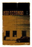 Los Angeles, Vice City in Brown Print by Pascal Normand