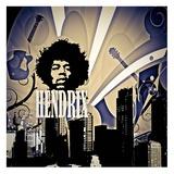Hendrix Print by Jean-François Dupuis