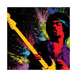 Jimi Hendrix: Psychedelic Splash Poster