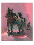 Horseman of Woman Giclee Print by Zhang Yong Xu