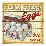 Eier frisch vom Bauernhof Giclée-Druck von Kate Ward Thacker