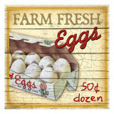 Farm Fresh Eggs Giclee Print by Kate Ward Thacker