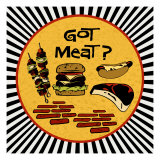 Got Meat Giclee Print by Kate Ward Thacker