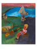 Holiday Beach Giclee Print by Zhang Yong Xu
