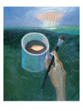 My Poem in Coffee Break Giclee Print by Zhang Yong Xu