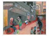 On the Street of Musical Artist Giclee Print by Zhang Yong Xu