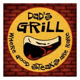 Dad's Grill Giclée-Druck von Kate Ward Thacker