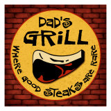 Dad's Grill Giclee Print by Kate Ward Thacker