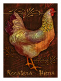 Roosters & Hens Giclee Print by Kate Ward Thacker