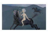 North Wind Blowing with a Horse Giclee Print by Zhang Yong Xu