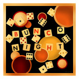 Bunco Night Wydruk giclee autor Kate Ward Thacker