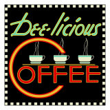 Dee-licious Coffee Lámina giclée por Kate Ward Thacker