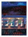 Long Train in Midnight Giclee Print by Zhang Yong Xu