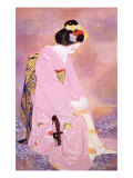 The Moonlight Shadow in Spring Giclee Print by Goyo Otake