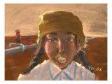 Bubble Gum Girl Giclee Print by Zhang Yong Xu
