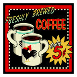 Freshly Brewed Coffee Lámina giclée por Kate Ward Thacker