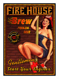 Fire House Brew Giclee Print by Kate Ward Thacker