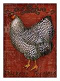 Chickens & Roosters Giclée-Druck von Kate Ward Thacker