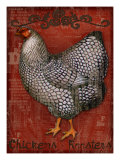 Chickens & Roosters Giclee Print by Kate Ward Thacker