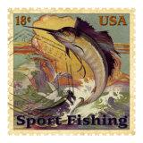 Sport Fishing Giclee Print by Kate Ward Thacker