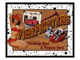 Feuerwehrmann Giclée-Druck von Kate Ward Thacker