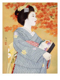 Maiko the Autumn Leaves Giclee Print by Goyo Otake