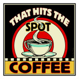 Coffee Hits the Spot Lámina giclée por Kate Ward Thacker