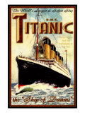 Titanic Reproduction procédé giclée par Kate Ward Thacker