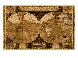 Weltkarte Giclée-Druck von Kate Ward Thacker