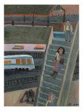 West Tianjin Station Giclee Print by Zhang Yong Xu