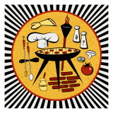 BBQ Time Giclee Print by Kate Ward Thacker