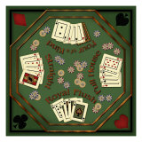 Poker Table Giclee Print by Kate Ward Thacker