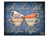 Life Before Coffee Giclee Print by Kate Ward Thacker
